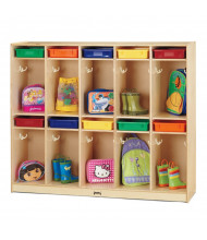 Jonti-Craft Take Home Center 10-Section Cubbie Coat Locker with Colored Paper-Trays