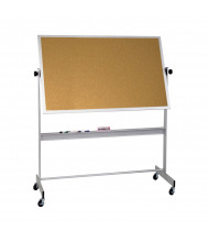 Best-Rite 668AG-CC Natural Cork 6 x 4 Aluminum Trim Reversible Mobile Bulletin Board