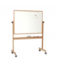 Best-Rite 668WF-DD Porcelain 5 ft. x 4 ft. Light Oak Wood Frame Reversible Board