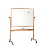 Best-Rite 668WG-DD Porcelain 6 ft. x 4 ft. Light Oak Wood Frame Reversible Board