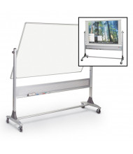 Best-Rite 669RG-FD Projection Plus/Porcelain 6 ft. x 4 ft. Aluminum Trim Reversible Board (Both Sides Shown) Accessories not included