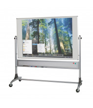 Best-Rite 669RG-FF Projection Plus 6 ft. x 4 ft. Aluminum Trim Reversible Board - Accessories are not included.
