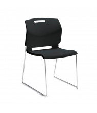 Global Popcorn 6711 Polypropylene Plastic Guest Stacking Chair (Shown in Black)