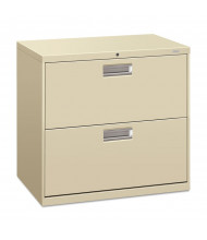 """HON Brigade 672LL 2-Drawer 30"""" Wide Lateral File Cabinet, Letter & Legal Size, Putty"""