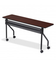 "Iceberg OfficeWorks 60"" W x 18"" Mobile Training Table in Mahogany"