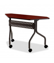 "Iceberg OfficeWorks 48"" W x 18"" D Trapezoid Mobile Training Table (Shown in Mahogany)"