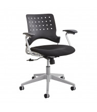 Safco Reve 6807 Plastic Square-Back Fabric Low-Back Task Chair (Shown in Black)