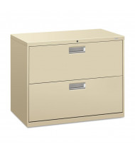 "HON Brigade 682LL 2-Drawer 36"" Wide Lateral File Cabinet, Letter & Legal Size, Putty"