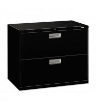 "HON Brigade 682LP 2-Drawer 36"" Wide Lateral File Cabinet, Letter & Legal Size, Black"