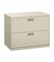 "HON Brigade 682LQ 2-Drawer 36"" Wide Lateral File Cabinet, Letter & Legal Size, Light Gray"