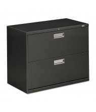 "HON Brigade 682LS 2-Drawer 36"" Wide Lateral File Cabinet, Letter & Legal Size, Charcoal"