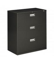 "HON Brigade 683LS 3-Drawer 36"" Wide Lateral File Cabinet, Letter & Legal Size, Charcoal"