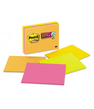 "Post-It 8"" x 6"", 4 45-Sheet Pads, Rio de Janeiro Color Super Sticky Meeting Notes"
