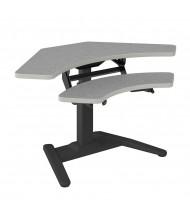 "Mayline E 26"" - 42"" H Electric Height Adjustable Corner Standing Desk (Fog Grey)"