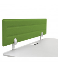 "Iceberg 46"" W x 15"" H Acoustic Tackable Felt Desk Privacy Panel (Shown in Green)"