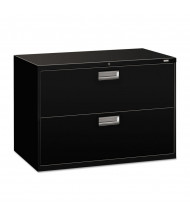 "HON Brigade 692LP 2-Drawer 42"" Wide Lateral File Cabinet, Letter & Legal Size, Black"