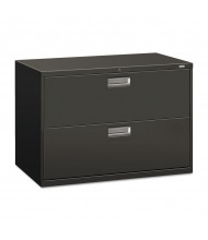 "HON Brigade 692LS 2-Drawer 42"" Wide Lateral File Cabinet, Letter & Legal Size, Charcoal"