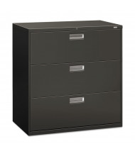 "HON Brigade 693LS 3-Drawer 42"" Wide Lateral File Cabinet, Letter & Legal Size, Charcoal"