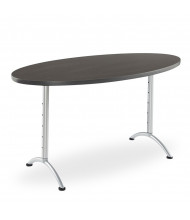 "Iceberg ARC Pin 30"" - 42"" H Oval Adjustable Table (Shown in Grey)"