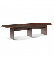 DMI Furniture Fairplex 14 ft Racetrack Expandable Conference Table (Shown in Mahogany)