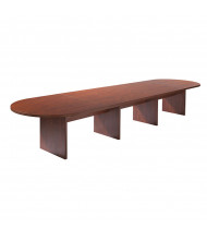 DMI Furniture Fairplex 18 ft Racetrack Expandable Conference Table (Shown in Cognac Cherry)