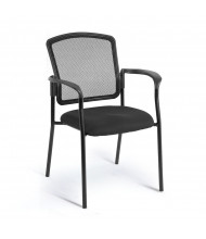 Eurotech Dakota 2 Mesh-Back Fabric Mid-Back Stacking Guest Chair with Armrests