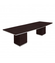 DMI Furniture Pimlico 10 ft Boat-Shaped Conference Table. Shown in Mocha