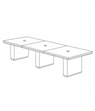 DMI Furniture Pimlico 12 ft Rectangular Expandable Conference Table