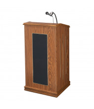 Oklahoma Sound Prestige Full Size Wireless Sound System Lectern (Shown in Medium Oak)