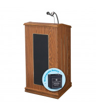 Oklahoma Sound Prestige Full Size Sound System Lectern (Shown in Medium Oak)