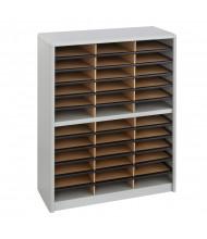 Safco 36-Compartment Value Steel & Fiberboard Mail Sorter, Grey