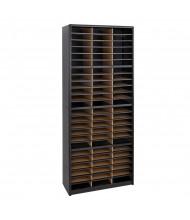 Safco 72-Compartment Value Steel & Fiberboard Mail Sorter, Black
