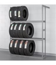"Tennsco 60"" W x 84"" H Automotive Tire Rack Shelving Unit (Shown in Medium Grey)"