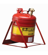 Justrite 7150146 Type I Top 08540 Faucet 5 Gallon Tilt Safety Can, Red
