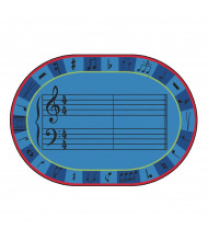 Carpets for Kids A-Sharp Music Oval Classroom Rug