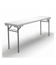 "Mayline Event 72"" W x 18"" D Plastic Folding Table"