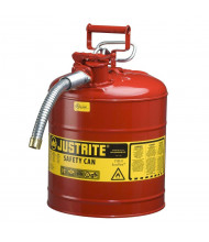 "Justrite Type II AccuFlow 5 Gallon 5/8"" Hose Steel Safety Can (Shown in Red)"