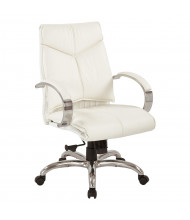 Office Star Deluxe Mid-Back Executive White Leather Chair (Model 7271)