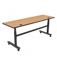 """Balt 60"""" W x 24"""" D Adjustable Nesting Flipper Training Table 90316 (Shown in Castle Oak)"""