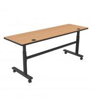 """Balt 72"""" W x 24"""" D Adjustable Nesting Flipper Training Table 90317 (Shown in Castle Oak)"""