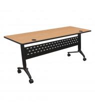 """Balt Nido 72"""" W x 24"""" D Adjustable Height Flipper Training Table 90283 (Shown in Castle Oak)"""