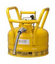 "Type II AccuFlow DOT 2.5 Gallon Steel Safety Can, 5/8"" Hose, Yellow"