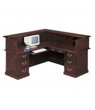 DMI Governors 7350 L-Shaped Double Pedestal Reception Desk, Left Return