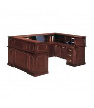 DMI Governors 7350 U-Shaped Double Pedestal Reception Desk, Right Credenza