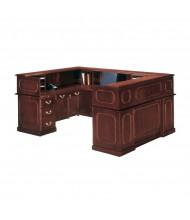 DMI Governors 7350 U-Shaped Double Pedestal Reception Desk, Left Credenza