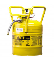"Type II AccuFlow DOT 5 Gallon Steel Safety Can, 5/8"" Hose, Yellow"