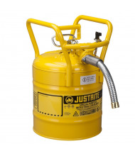 "Type II AccuFlow DOT 5 Gallon 1"" Hose Roll Bar Steel Safety Can, Yellow"