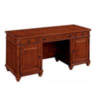 """DMI Antigua 68"""" W Straight Front Double Pedestal Office Desk Credenza"""