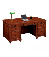 "DMI Antigua 72"" W Executive Straight Front Double Pedestal Office Desk"