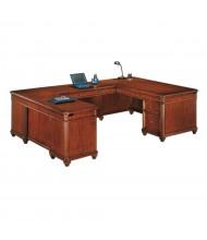 "DMI Antigua 72"" W U-Shaped Straight Front Office Desk"